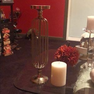 Candle holder with candle